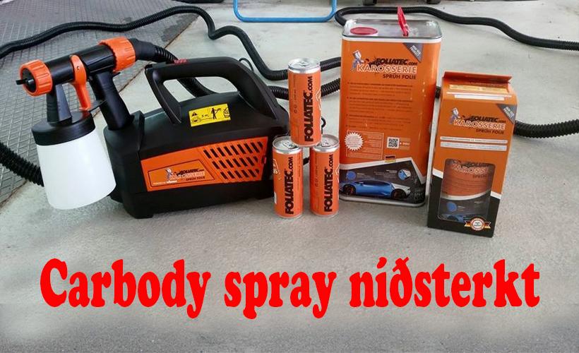 Carbody spray brúsar 1
